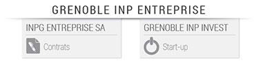 Grenoble INP - Entreprise - schéma de la holding petit
